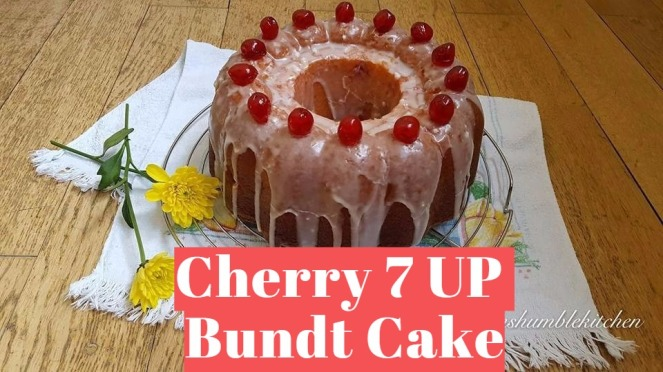 Cherry 7 UP Bundt Cake